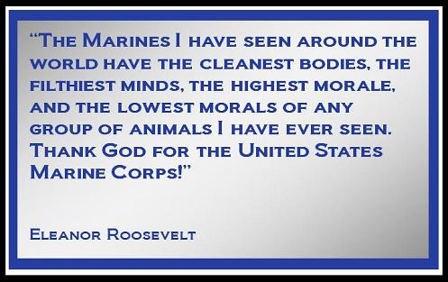 Eleanor Roosevelt Quote About Marines Delectable Eleanor Roosevelt On Marines … .but I Digress