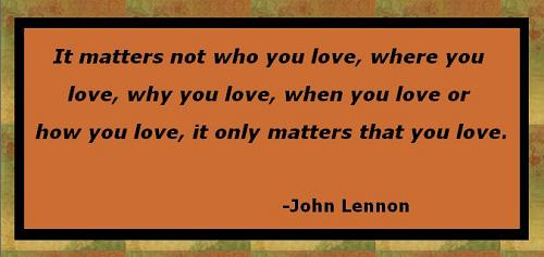 John Lennon Love Quotes : lennon quote dbl bkgd
