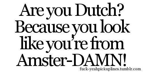 dutch pick up lines