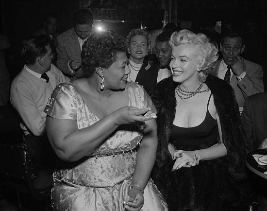 Ella with Marilyn Monroe; AllAboutJazz.com