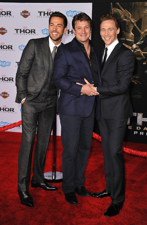 ZACHARY LEVI, NATHAN FILLION, TOM HIDDLESTON