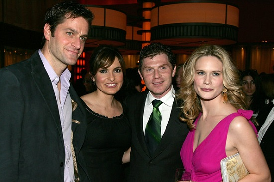 PETER & MARISKA WITH BOBBY FLAY & STEPHANIE MARCH